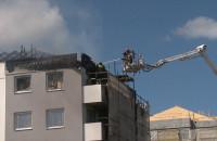 Akcja gaśnicza na osiedlu Wiczlino