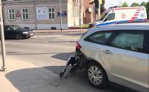 Wypadek na ul. Toruńskiej w centrum Gdanska