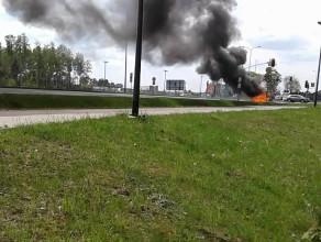 Pożar samochodu na Słowackiego