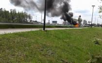 Pożar samochodu na Słowackiego przy...