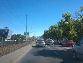 Wrzeszcz w kierunku Gdańska przytkany