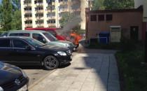 Pożar auta na ul. Helskiej