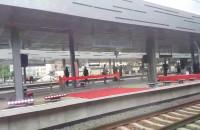 Dekoracje na przystanku Gdańsk Wrzeszcz
