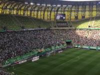 Radość po 1. golu dla Lechii w meczu z Pogonią