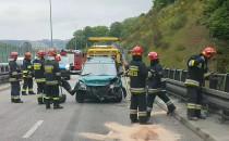 Skutki wypadku na Estakadzie Kwiatkowskiego