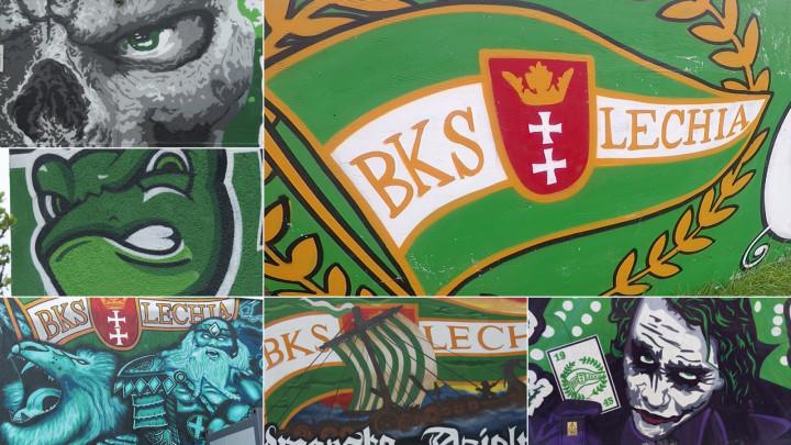 Zobacz murale autorstwa kibiców Lechii Gdańsk
