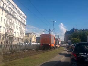 Korek tramwajowy na 8 tramwajów