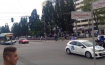 Dwa trolejbusy bez szelek w centrum Gdyni....