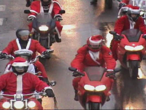 Zapowiedź parady Mikołajów na motocyklach