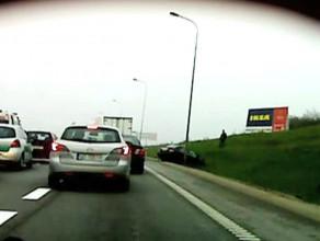 Zderzenie pięciu samochodów na obwodnicy
