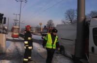 Zderzenie busa z tramwajem we Wrzeszczu
