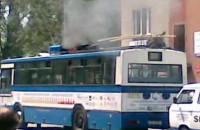 Pożar trolejbusu
