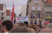 Wiece wyborcze B.Komorowskiego i J.Kaczynskiego w Trójmieście.