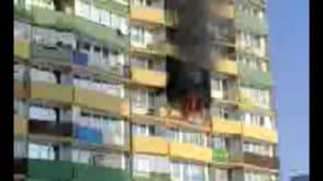 Pożar falowca na Gdańskim Przymorzu