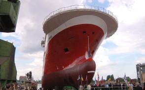 Wodowanie statku w Stoczni Gdańskiej