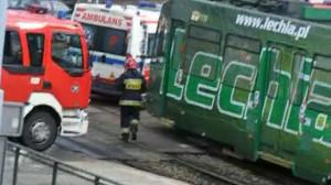 Zderzenie dwóch tramwajów we Wrzeszczu