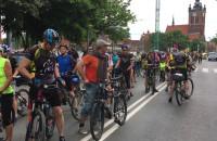 Tłumy rowerzystów na Rajskiej w Gdańsku