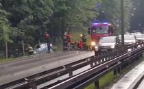 Samochód wypadł z drogi na Słowackiego
