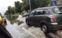 Gdańsk al. Zwycięstwa  zalana i do tego...