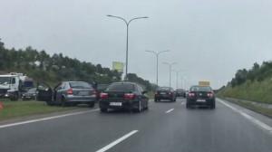 Kolizja na WZ w stronę Gdańska
