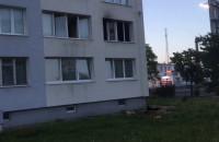 Skutki pożaru mieszkania w Oliwie