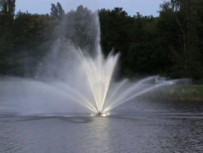 Nowa fontanna na zbiorniku Srebrniki