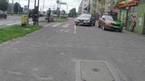 Chodnik i droga rowerowa przy ul. Morskiej