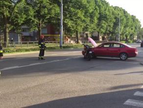 Stłuczka motocykla z osobówka na Kartuskiej