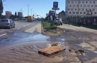 Awaria wodociągowa na Podwalu Przedmiejskim