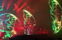 Efekty wizualne na koncercie Jarre'a