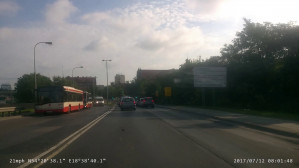 Zepsuty autobus na początku Traktu Św. Wojciecha