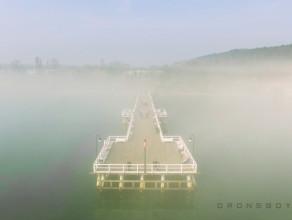 Trójmiejskie mgły z lotu ptaka