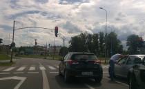 Kłótnia na drodze między kierowcami
