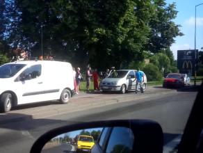 Wypadek dwóch aut. Bez rannych