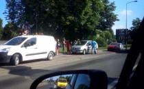 Wypadek dwóch aut. Bez rannych.