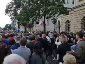 Tłumy pod sądem w Gdańsku