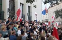 Gdynia.Protest przeciwko ustawie o sądownictwie