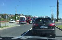 Skutki kolizji drogowej przy ul. Wielkopolskiej w  Gdyni