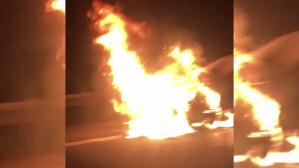 Pożar auta na obwodnicy w rejonie Matarni