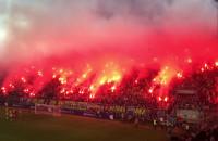 Racowisko podczas meczu Arka - Midtjylland