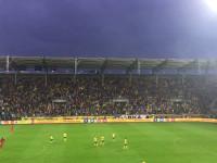 Radość po golu na 1:0 w meczu Arka - Mitdjylland