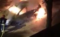 Nocny pożar auta na Kamiennej Górze