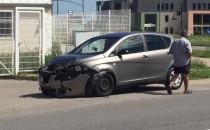 Wypadek na ul. Łódzkiej na Ujeścisku