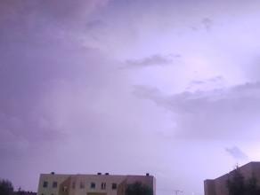 Idzie burza - mocno błyska się nad Gdańskiem
