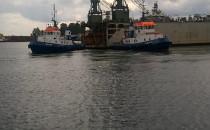 Ze starej stoczni Nauta w Gdyni wypływa...