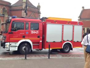 Strażacy pędzą przez miasto