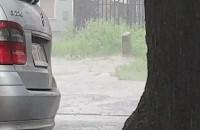Silny deszcz we Wrzeszczu