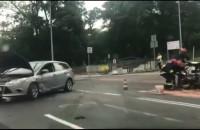 Wypadek z udziałem motocykla na ul. Kartuskiej
