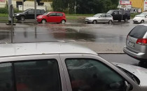 Potok na Małomiejskiej od Zamojskiej w dół