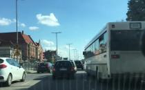 Wypadek przed przystankiem pod Forum Gdańsk